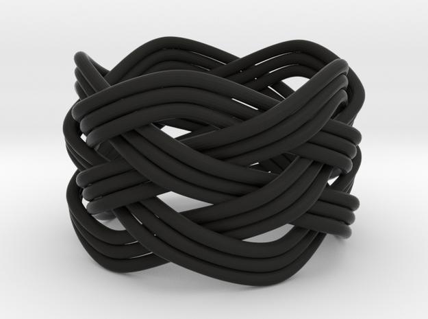 Turk's Head Knot Ring 5 Part X 5 Bight - Size 6.5 3d printed