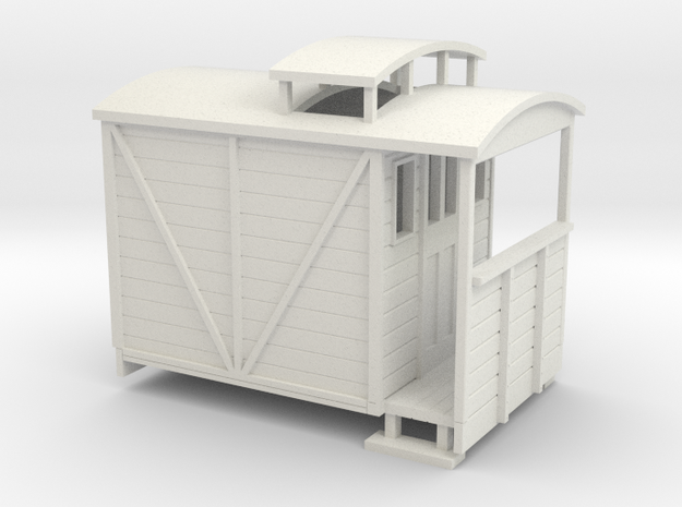 OO9 brake van with birdcage (large) 3d printed