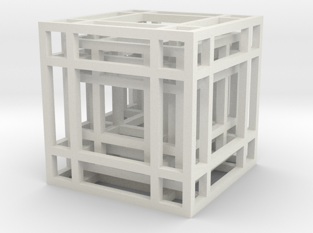 Concentric Cubes in White Strong & Flexible