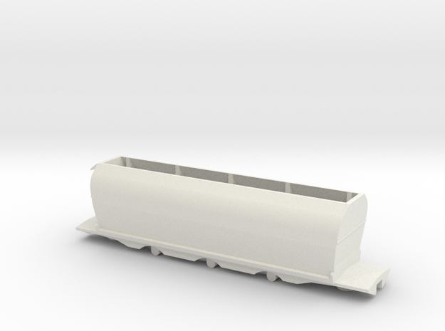 CE Coal Wagon, New Zealand, (S Scale, 1:64) in White Natural Versatile Plastic