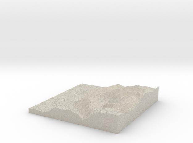 Terrafab generated model Fri Sep 27 2013 22:48:48  3d printed