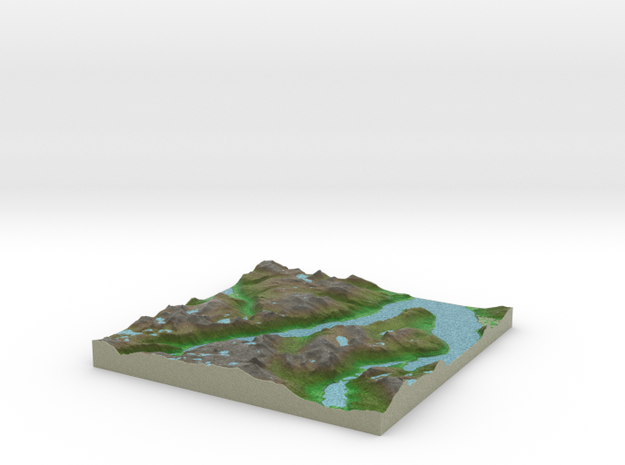 Terrafab generated model Sat Sep 28 2013 16:14:28 3d printed