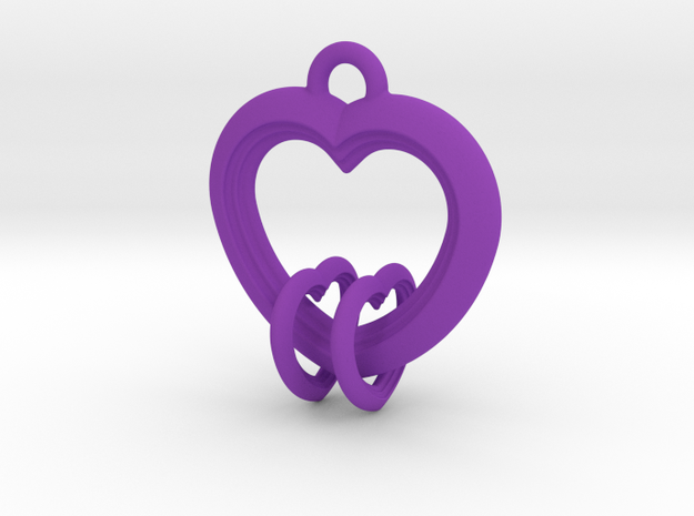 2 Hearts Linked in Love 3d printed