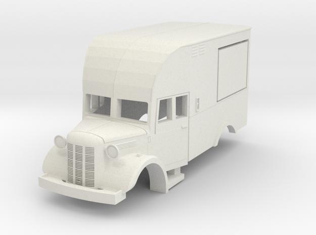 Austin K2 canteen. scale 1:87 in White Natural Versatile Plastic