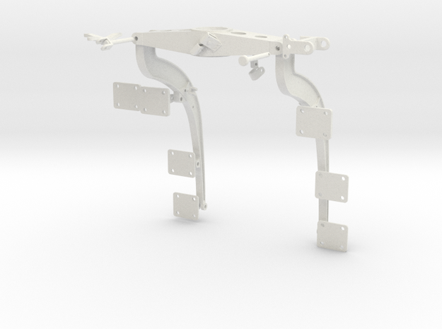 1:7 Scale Huey Port Side Weapons Support Frame in White Natural Versatile Plastic