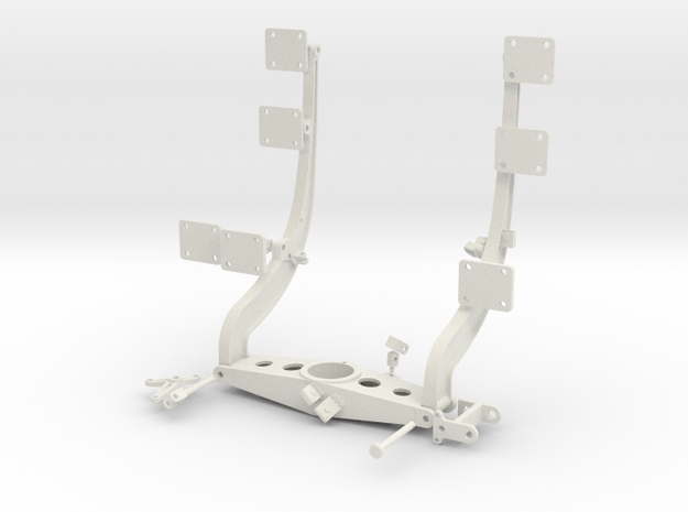 1:7 Scale Huey Starboard Side Weapons Support in White Natural Versatile Plastic