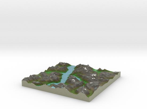 Terrafab generated model Tue Oct 01 2013 23:37:06  in Full Color Sandstone