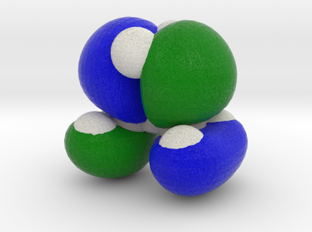 Highest molecular orbital of cyclopropane 3d printed
