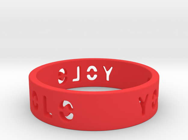 YOLO TYPE 1, Size 5 Ring Size 5 3d printed