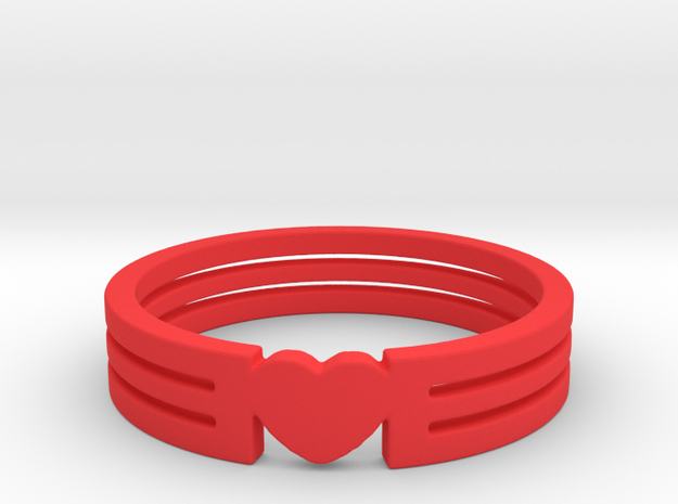 Heart Ring Size 5.5 in Red Processed Versatile Plastic