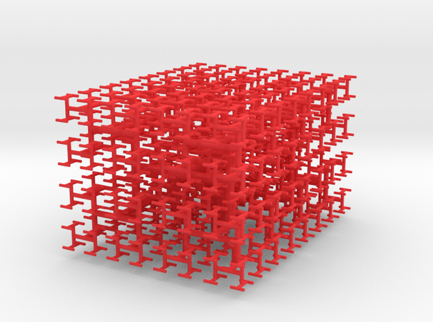Space-Filling Fractal Tree, the H-Tree in 3D 3d printed