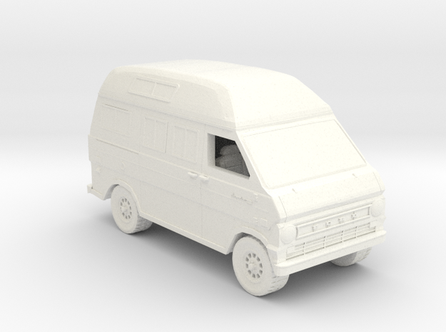 Ford Van Gen 2 in White Strong & Flexible Polished