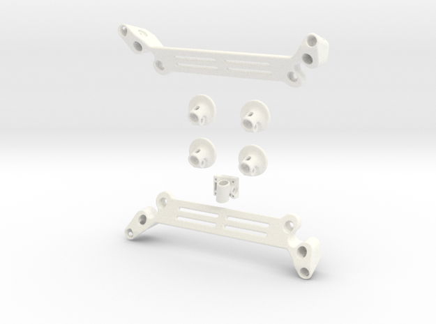 DJI Phantom Wide Battery Landing Gear 3d printed