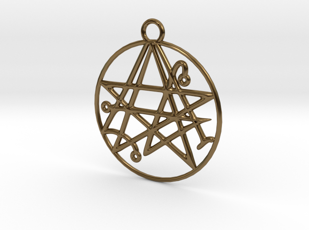 Cthulhu Sigil of the Gateway Pendant 3d printed