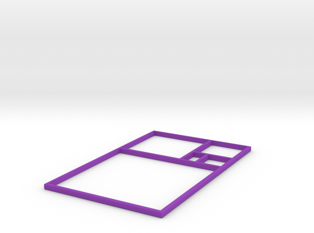 The Golden Rectangle 3d printed