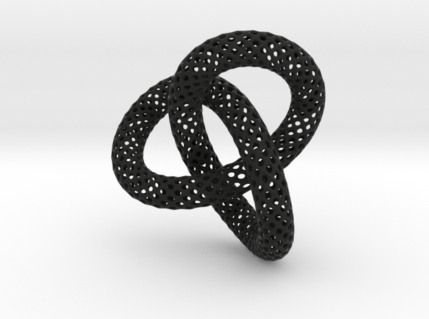 Knotted Torus With Ball 3d printed