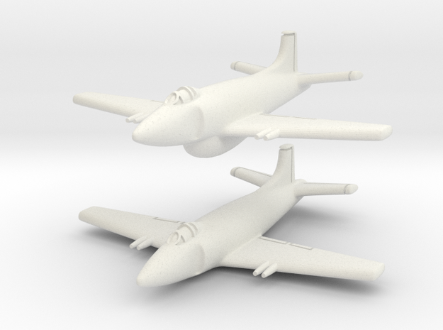 Supermarine Attacker (Pair) 1/285 6mm 3d printed