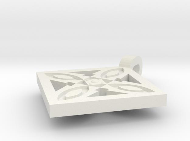 Terracotta Batik Pendant 3d printed