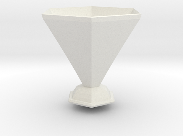 amy pond vase in White Natural Versatile Plastic