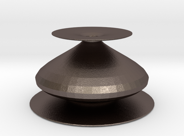eternity vase in Polished Bronzed Silver Steel