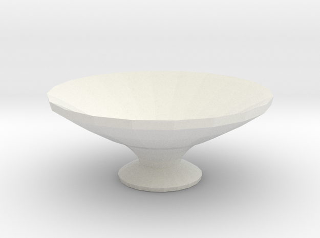 water orniment/ bird bath in White Natural Versatile Plastic