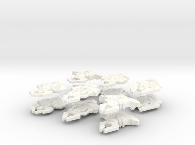 Cardassian Big Fleet (12 Ships, 2 sets of 6) 3d printed