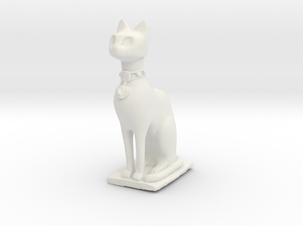 Cat statue in White Strong & Flexible