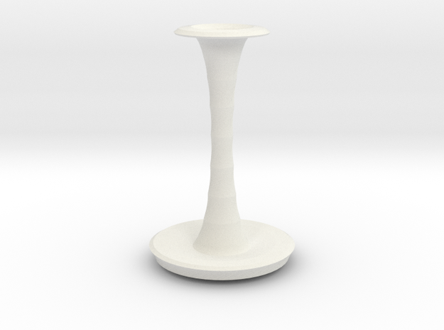 wong vase  in White Natural Versatile Plastic