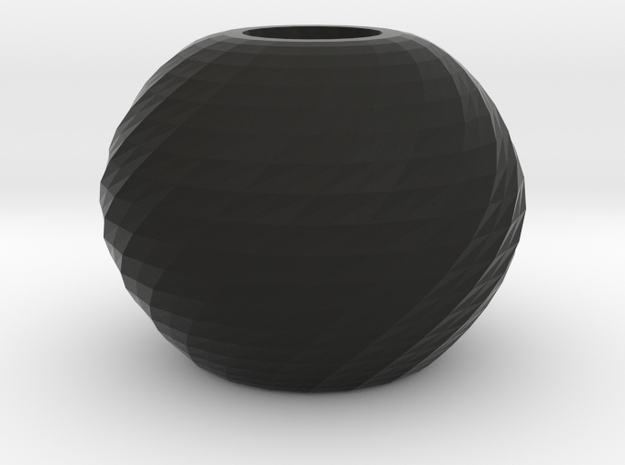 twisted ball vase 3d printed