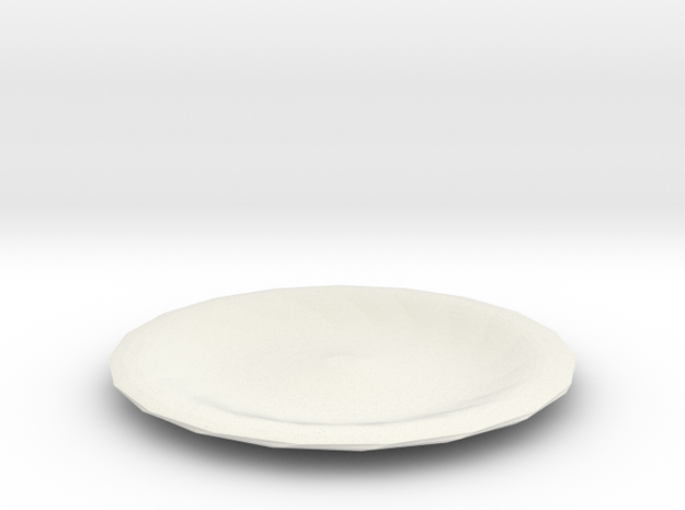 twisted red cap plate in White Natural Versatile Plastic