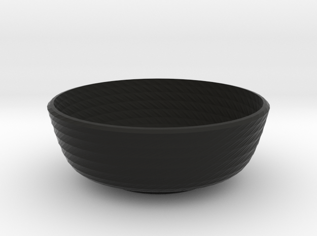 twisted small bowl 3d printed