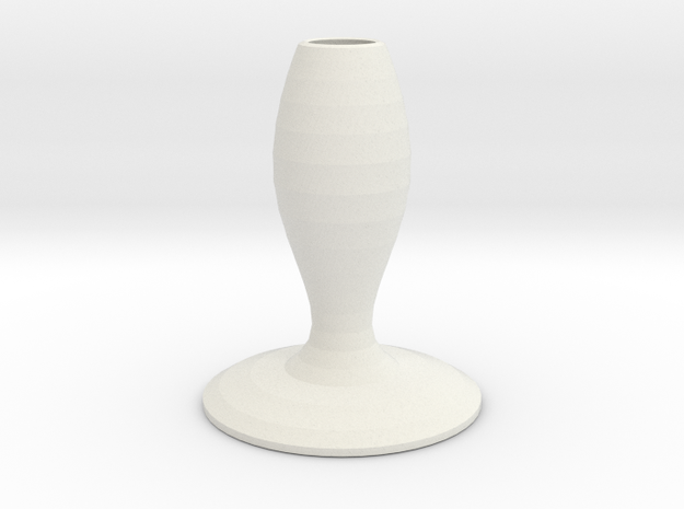 lazy smurf vase  in White Strong & Flexible