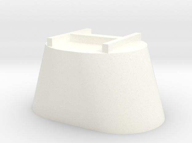 Verticle Mixer Single in White Processed Versatile Plastic