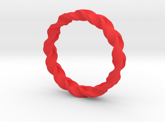 Double Braid Ring 3d printed