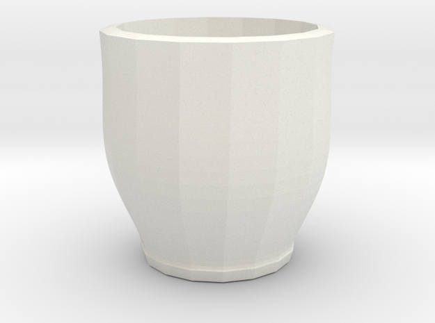 red cap cup 1 in White Natural Versatile Plastic