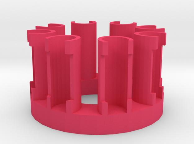 Rubberband Octofish Loom 3d printed