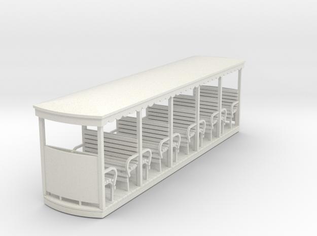 55n2 open bogie coach long in White Natural Versatile Plastic