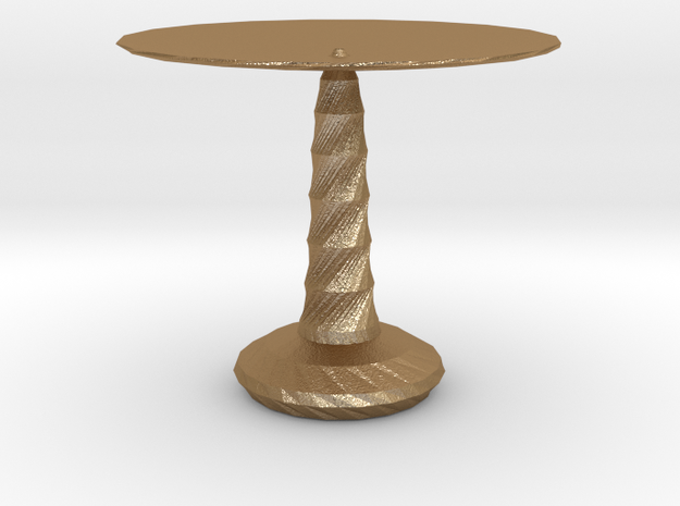 red cap table 3 in Matte Gold Steel