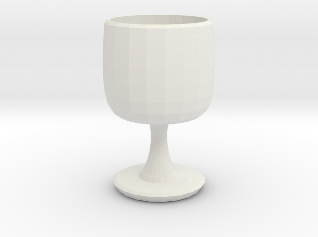 Planter  in White Natural Versatile Plastic