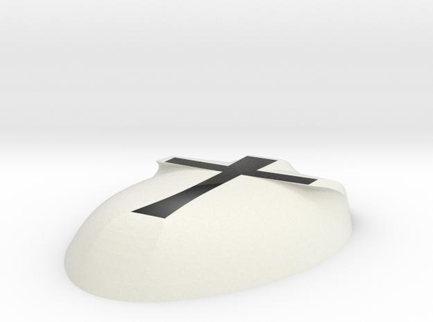 Cross Mask in White Natural Versatile Plastic