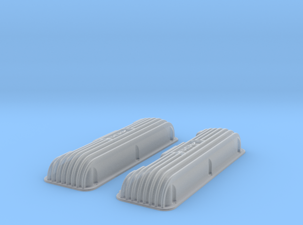 1 16 409 Finned Logo Valve Covers File 3d printed