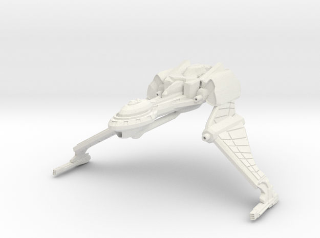 Qu'Hegh Bird Of Pray Class Cruiser -wings Down- in White Strong & Flexible