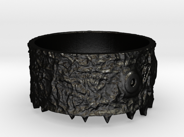 Toothy Beast Ring size 7.25 3d printed