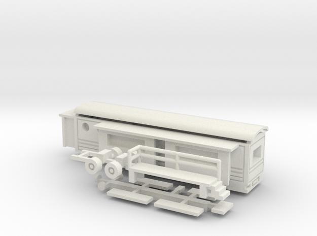 Wohnwagen Tonnendach - 1:220 (z scale) in White Natural Versatile Plastic