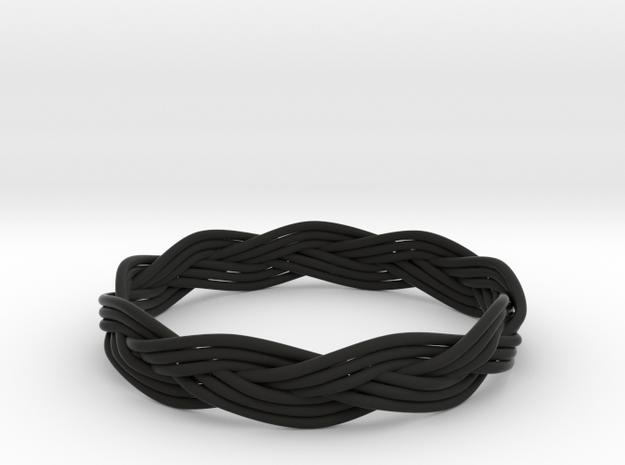 Turk's Head Knot Ring 3 Part X 9 Bight - Size 26.2 3d printed