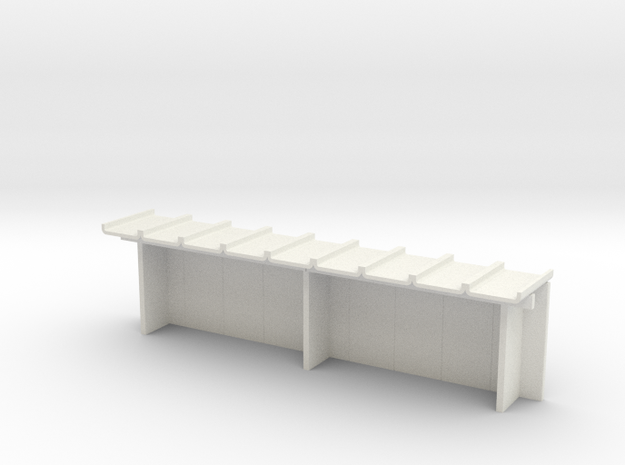 Wartehalle Gross H0 in White Natural Versatile Plastic