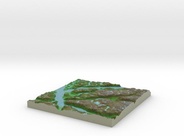 Terrafab generated model Mon Oct 28 2013 09:33:31 3d printed