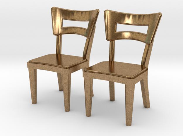 Pair of 1:48 Dog Bone Chairs 3d printed