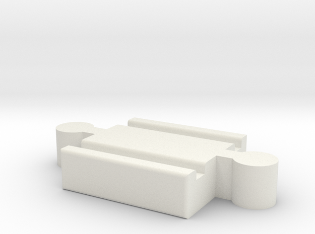 Ikea LILLABO M-M Connector 40mm in White Natural Versatile Plastic