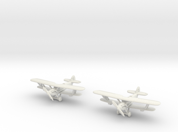 Hawker Hardy Pair (two airplanes set) 1/285 6mm 3d printed